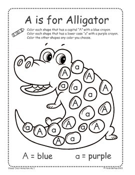 Find the Letter! Alphabet Coloring Worksheets by