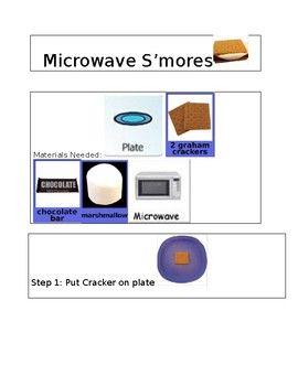 visual recipe for microwave s mores