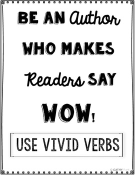 Vivid Verbs Games, Writing Prompts, Interactive Games