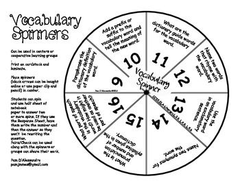 Vocabulary Comprehension Center Common Core Aligned ELA L