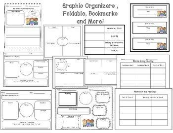 Vocabulary Graphic Organizers, Posters, Foldable, and More