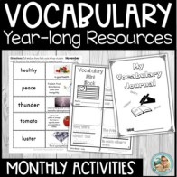 #hellosummer Vocabulary Kindergarten - 3rd YEARLONG Reading Blocks Program
