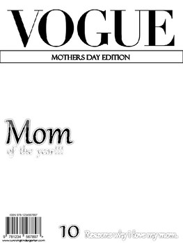Vogue Mothers Day Edition Blank Front Cover by Surviving