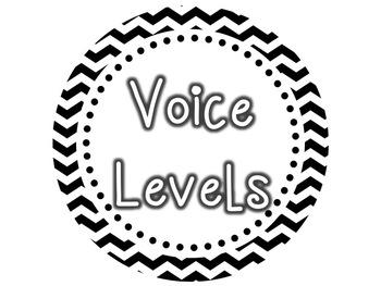 Voice Levels Clip Chart {Black & White Chevron} by