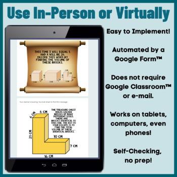 Volume Digital Escape Room 5th Grade Measurement & Data
