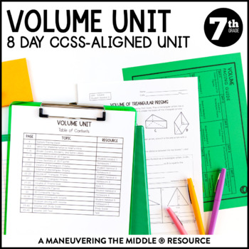 7th Grade Volume Unit with Cross Sections: 7.G.6 by