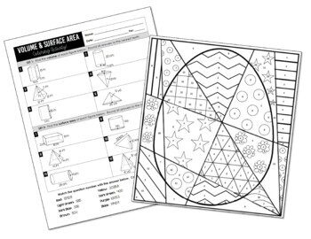 Volume and Surface Area Coloring Activity (Prisms
