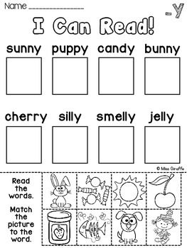 Vowel Sounds of Y Worksheets & Activities {NO PREP!} by