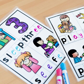 Vowel Teams and Diphthongs Printables, Centers, and