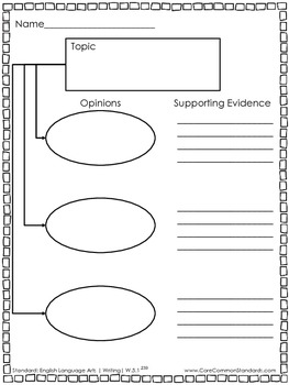 W.5.1 Fifth Grade Common Core Worksheets, Activity, and