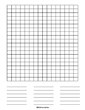 WORD SEARCH TEMPLATE 4 templates English French Spanish