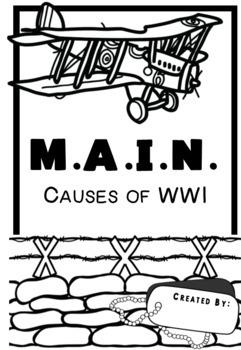 MAIN Causes of World War One Graphic Organizer My