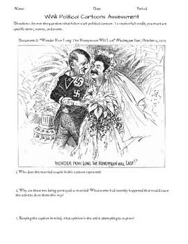 WWII Political Cartoon Activity Pack-Alternative