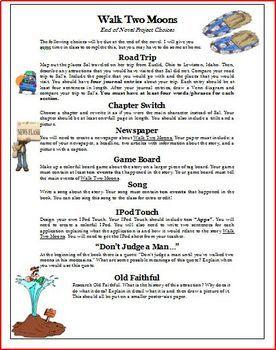 Walk Two Moons Novel Unit by Wise Guys Teachers Pay Teachers
