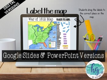 War Of 1812 Map Activity By History Gal Teachers Pay