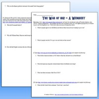War Of 1812 Worksheets
