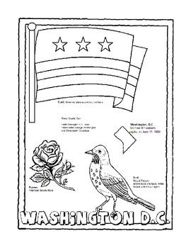 Washington Dc Coloring Pages : washington, coloring, pages, Washington, Color, Chrystal, Stalzer