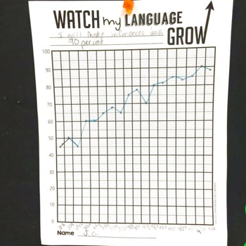 Speech & Language Data Tracker {for students to track