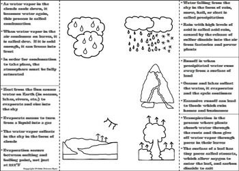 The Water Cycle Activity/ Foldable: Clouds, Precipitation