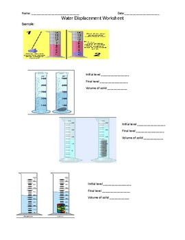 Volume By Water Displacement Worksheet : volume, water, displacement, worksheet, Primero, Final, Worksheets, Teaching, Resources, Teachers