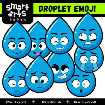 water droplet emoji clip