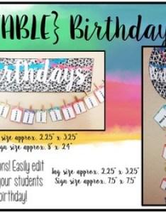 Watercolor classroom decor editable birthday chart also by julie shope rh teacherspayteachers