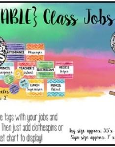 Watercolor classroom decor editable job chart also by julie shope tpt rh teacherspayteachers