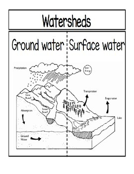 Watersheds...Ground Water vs. Surface Water Foldable by