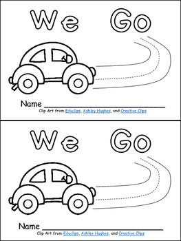 We Go Emergent Reader for Kindergarten- Level A by Melissa