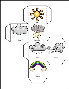 Weather Activities Math and Literacy Bundle, Weather Theme