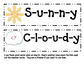 Weather Chart with graphs for Calendar/ Circle Time by