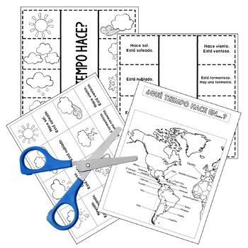 Weather / El Tiempo Interactive Notebook Activity by Fun