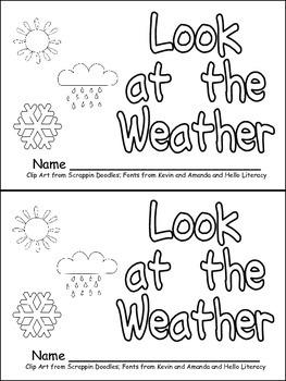 Weather Emergent Reader for Kindergarten- Science by