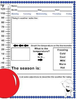 Weather Journal Template By Diligence N Design TpT