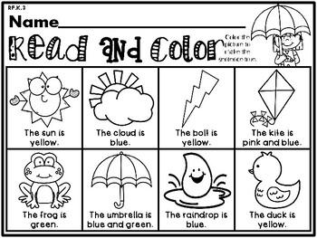 Weather Themed NO PREP Kindergarten Language Arts Pack