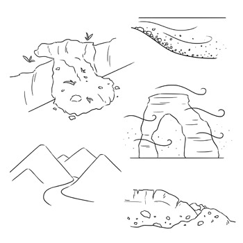 Weathering and Erosion Clip Art: Set 1 of 2 by Digital