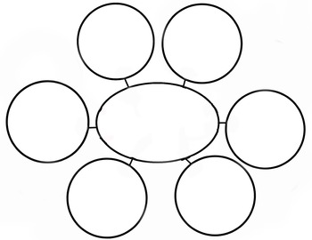 Web Diagram Graphic Organizer 6 spoke by Sunshine to a