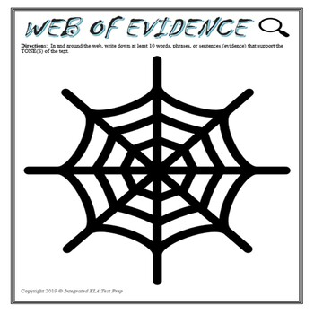 Web of Evidence Graphic Organizer w/ Short Response
