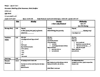 Week 5 Kindergarten Lesson Plans Theme 1 Week 1 Houghton
