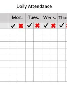 Weekly attendance sheet also teaching resources teachers pay rh teacherspayteachers