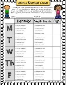 Weekly behavior chart editable  free also by more time teach tpt rh teacherspayteachers