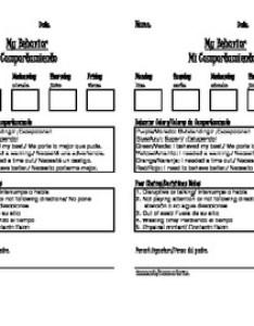 also weekly behavior chart english  spanish by jennifer mcknight tpt rh teacherspayteachers