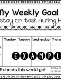 Weekly behavior goal chart editable also by natalie grace norman tpt rh teacherspayteachers