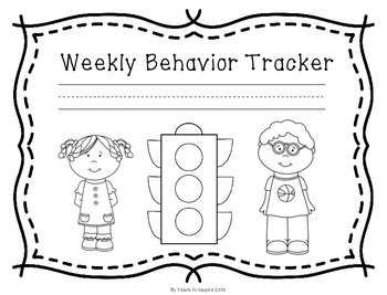 Weekly Behavior Tracker: Stoplight Edition by Teach to