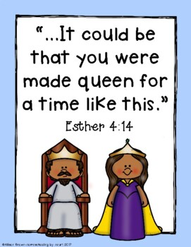 Weekly Bible Lessons: Queen Esther by Homeschooling by