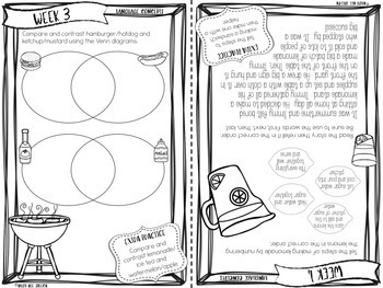 Weekly Summer Booklets for Speech & Language by Lauren