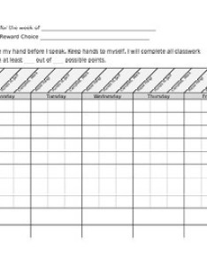 Weekly behavior chart with three goals also by  day in the life of rh teacherspayteachers