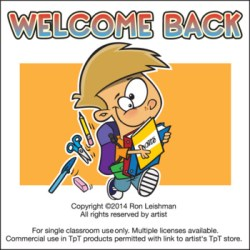 Welcome Back to School Cartoon Clipart Sampler For All Grades TpT
