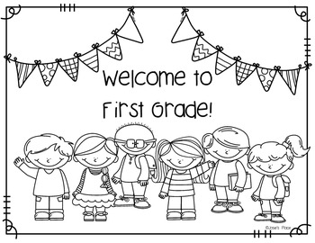 Welcome to Our Class Coloring Sheet FREEBIE by Josie's