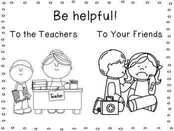 Welcome to Preschool/Pre-K/Kindergarten! Rules Book by